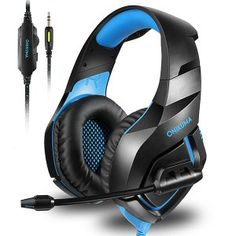 ONIKUMA Stereo Gaming Headset for Xbox One, Noise Cancelling Mic Over Ears Gaming Headphones with Microphone for Nintendo Switch PlayStation 4 Laptop Smartphones and PC Headphones For Ps4, Xbox One Headset, Playstation, Headphones With Microphone, Headphone With Mic, Noise Cancelling Headphones, Nintendo Ds, Nintendo Switch, Gadgets