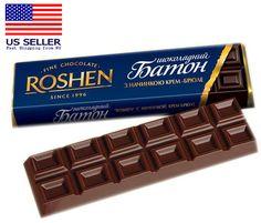 Roshen Milk Chocolate Bar with Creme Brulee Filling, oz / 53 g Russian Chocolate, Dark Chocolate Bar, Chocolate Filling, Praline Candy, Biscuits Packaging, Blueberry Cookies, Creme Brulee, Packaging Design, Milk