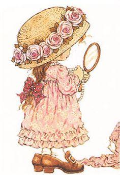 Nostalgic Sarah Kay Girl Grandma's Attic Fabric Block Or Inch Sewing & Garden Sarah Key, Holly Hobbie, Sarah Kay Imagenes, Anne Of Green Gables, Australian Artists, Precious Moments, Vintage Children, Cute Art, Cute Kids