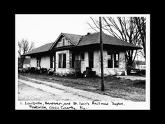 Ohio County, Kentucky History: Railroad Depot - Fordsville. Found on the Register for Historic Places, the Louisville, Henderson and St. Louis Railroad Depot at Fordsville was built in 1916.