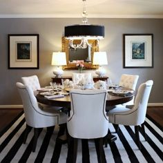 white marble round dining table - Google Search