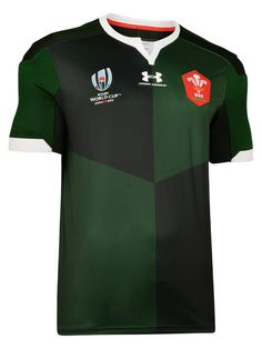 Under Armour Wales Wru Away Short Sleeved Rugby Shirt - Green Trouser Jeans, Trouser Suits, Formal Shirts, Green Pattern, Basic Style, Rugby, Sport Outfits, Under Armour, Suit Jacket