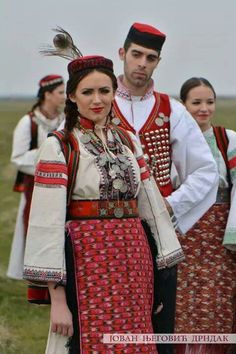 Serbian folk costume from Northern Dalmatia , Croatia