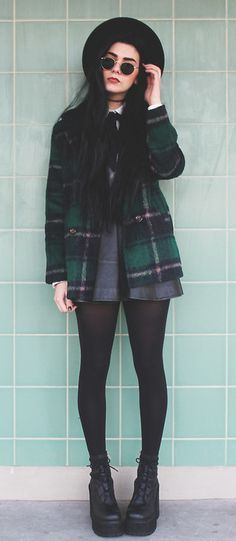 Winter Casual Plaids & Checks Coats Fashion for Women. Platform Boots For You http://gu.nu/etO