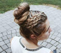 High bun with braids by Abigail Rose