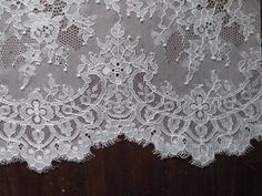 Chantilly Lace Fabric in IVORY for Bridal Gowns by MaryNotMartha