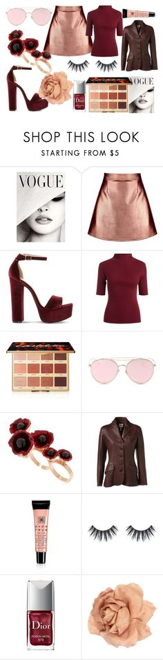 """""""rose gold"""" by knifefriend ❤ liked on Polyvore featuring Boohoo, Steve Madden, tarte, LMNT, Futuro Remoto, Hermès, Avon, Christian Dior, Chanel and red"""
