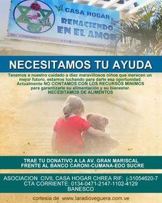 #DONACIONES #AYUDA #NIÑOS #CASAHOGAR #COLABORACION #ALIMNETOS #SUCRE #CUMANA