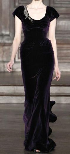 This purple velvet dress is so elegant, reminds me of one that I had. by billie