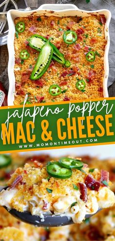 Nothing can be more comforting than Jalapeño Popper Mac and Cheese! This is the BEST recipe you will ever try. Extra creamy, loaded with flavor, and kicked up a notch with a little heat, this easy and delicious meal is sure to become a dinner favorite! Save this pin!