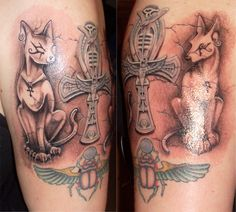 Egyptian tattoo. I would love to get one of the labyrinth though I'm so fascinated by it