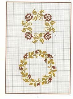 "ru / Tatiananik - Album ""motives for embroidery"" Cross Stitch Heart, Simple Cross Stitch, Cross Stitch Flowers, Crochet Cross, Filet Crochet, Modern Cross Stitch Patterns, Cross Stitch Designs, Cross Stitching, Cross Stitch Embroidery"