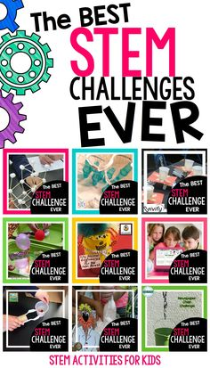 The best STEM challenges from the writers of STEM Activities for Kids. many projects to refer to while planning activities to line up with standards and grade levels. Steam Activities, Activities For Kids, Space Activities, Science Activities, Défis Stem, Kindergarten Stem, Stem Classes, Stem Science, Science Experiments