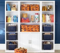 Savvy Storage Solutions using Baskets: Basket resources for the linen closet, shelves, laundry, toys, and more! Inspiration + Tips on choosing the best basket(s) by Jenna Burger Design, www.jennaburger.com