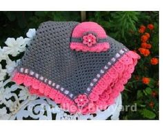 """Preciously Pink Easy Baby Blanket and Hat 