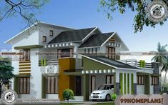 3d Home Design Online Free | Simple Two Storey House Design Plans 3d Home Design, Simple House Design, House Design Photos, Home Design Plans, Two Storey House Plans, 2 Storey House Design, House Plans 3 Bedroom, House Floor Plans, 7th Birthday