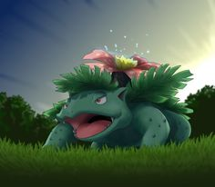My Venusaur, Leaf. He's one of my fav starter pokemon, and one of the best mega pokemon I have. He's a Level 100 as well, and he's always calm and steady. He's also someone I can rely on as well, after all, he has helped me beat the elite four AND the champion at least 10 times already ;)