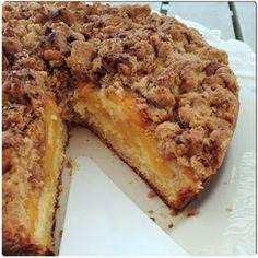 Crumb Κέικ Ροδάκινου Greek Desserts, Greek Recipes, Peach Crumble, Best Apple Pie, Sweet Pie, Sweets Cake, Canning Recipes, Sweets Recipes, Cake Cookies