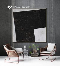 Textured Painting Large Wall Art Canvas Painting, Acrylic Painting on Canvas, Geometric Painting- Ethan Hill Art No.H127S