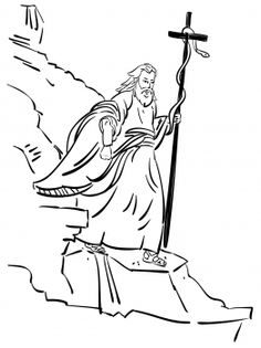 Moses carrying the bronze serpent
