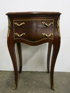 Bring back the Louis XV French style furniture with this beautiful reproduction side table! Find more great furniture online! www.antiquesdirect.ca #Vancouver #WeShipAllOverNorthAmerica