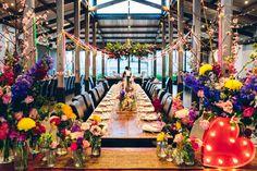 LARA + ADRIAN // #colourfulstyling #stonesoftheyarravalley #flowers #weddingstyling #pink #yellow #blue #sugarbeeflowers #bride #wedding #inspiration