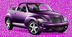 my purple PT Cruiser Convertible