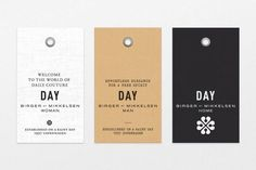 """Classy Clothing Tags with Little Sayings {bohemian spirit of """"old luxury"""" / heart of the brand} // DAY Birger et Mikkelsen by BAS"""