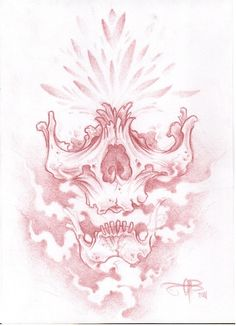 I draw alot of skulls, I guess there kind of my thing. this is a bit different to my normal ones. pencil and fineliner on catridge paper. Skull Tattoo Design, Tattoo Design Drawings, Cool Art Drawings, Skull Design, Art Sketches, Drawings Of Skulls, Hai Tattoos, Skull Tattoos, Body Art Tattoos