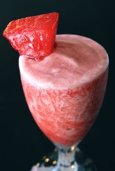 Watermelon Frosty, I'm not sure about the banana but will try it once.