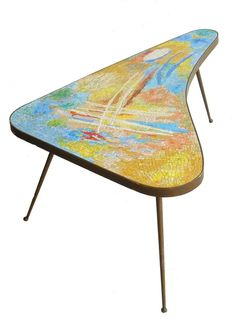 mid century glass coffee table abstract mid century glass mosaic and bronze coffee table mid century chrome glass coffee table Mid Century House, Mid Century Style, Mosaic Art, Mosaic Glass, Mid Century Coffee Table, Coffee Tables, Buy Coffee Beans, Mid-century Modern, Furniture Design