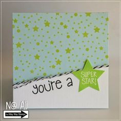 Card#0437 - TAWS - The Alley Way Stamps - clear stamps - Star of the Show, BEE Sweet & Got it Covered sets
