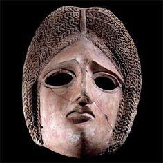 Theatre mask; terracotta. Roman, 1st-2nd century CE. British Museum, London.