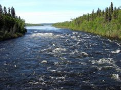 Churchill River in the Boreal Forest of Northern Saskatchewan.