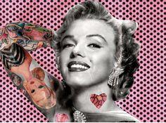 Pink Tattooed Marilyn Monroe