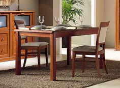 Mesa de comedor para salón modelo Darwin. Medidas: ancho: 150x90 cm. Color: nogal.