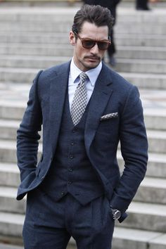 three-piece suiting