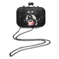 ANGRY DOG CLUTCH BAG ($37) ❤ liked on Polyvore featuring bags
