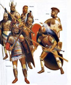 Peter Connolly - Heroes from the Trojan War. Tags: odysseys, ulysses, agamemnon, diomedes, menelaos, achilles, achillieus, aeneas, hektor, hector,