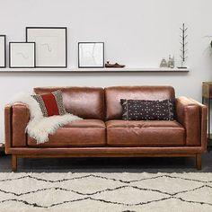 Dekalb Premium Leather Sofa - BMSM ~For Navy Room~