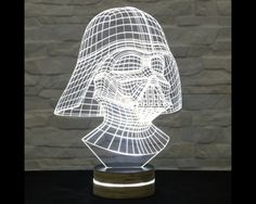 Darth Vader Shape, Star Wars, 3D LED Lamp, Kid's Room Decor, Amazing Effect, Nursery Light, Plexiglass Lamp, Decorative Lamp, Acrylic Lamp