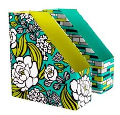 Would love these for my desk at work! Vera Bradley book keepers in Island Blooms