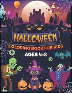 Halloween Coloring Book For Kids Ages 4-8: Spooky Halloween Coloring Book for Kids with Cute Characters, Spooky Scenes, and More!   Collection of ... Halloween Coloring Pages for Children !: House, Rana Halloween: 9798483161554: Amazon.com: Books Christmas Hoodie, Halloween Coloring Pages, Cool Hoodies, Kindle App, Cute Characters, Spooky Halloween, Coloring Books, Children, Kids