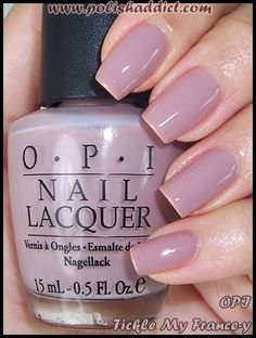 """OPI Tickle my France-y. This along with """"You don't know Jacques"""" is OPI's best selling shade ever. It's a beautiful neutral dusty pink, very office appropriate."""