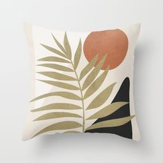 Tropical Leaf- Abstract Art 9 Throw Pillow by thindesign Geometric Cushions, Floral Cushions, Geometric Pillow, Aztec Home Decor, Outdoor Pillow Covers, Shiny Fabric, Decorative Pillow Cases, Tropical Leaves, Designer Throw Pillows