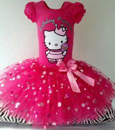 Beautiful Hello Kitty Tutu Dress size 2T3T by pinksparkledesings, $36.99