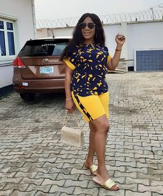 2019 Hottest Shorts To Slay This Weekend : Beautiful Modern African Wear Dresses, African Fashion Ankara, Latest African Fashion Dresses, African Print Fashion, Africa Fashion, African Attire, African Print Dress Designs, African Blouses, African Traditional Dresses