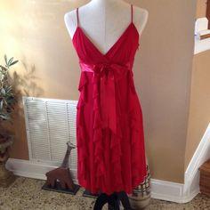 Betsy &Adam , Red Dress