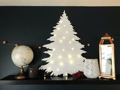 Modern White Holiday Tree