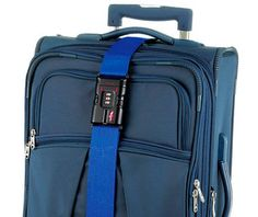 best travel accessories: Safe Skies TSA Luggage Strap. You can lock your luggage again!
